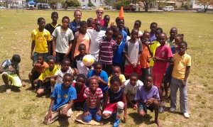 Training the NGB Soccer Academy in Dominica